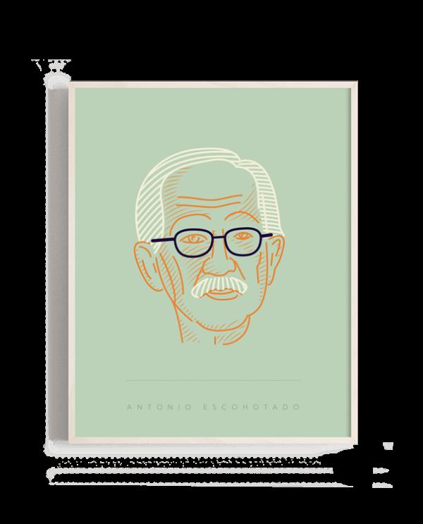 Retrato del filósofo Antonio Escohotado