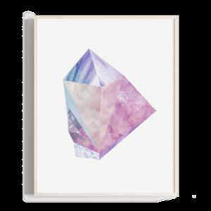 Ilustración de una gema inventada