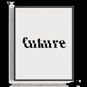 Ilustración tipográfica sencilla de la unión de dos palabras parecidas