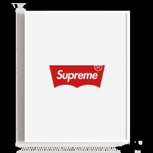 Combinación del logotipo de Levis y Supreme
