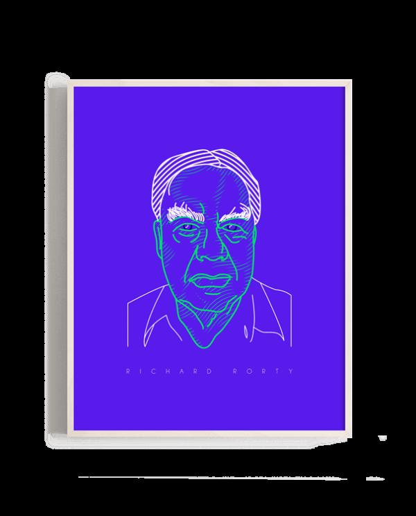 Retrato del filósofo Richard Rorty