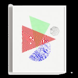 Ilustración abstracta con formas y texturas