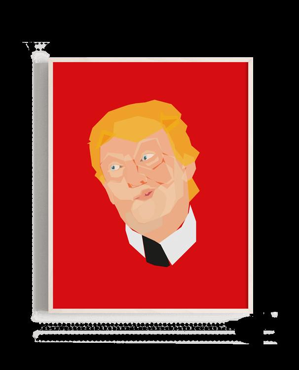 Retrato poco agraciado de Donald Trump