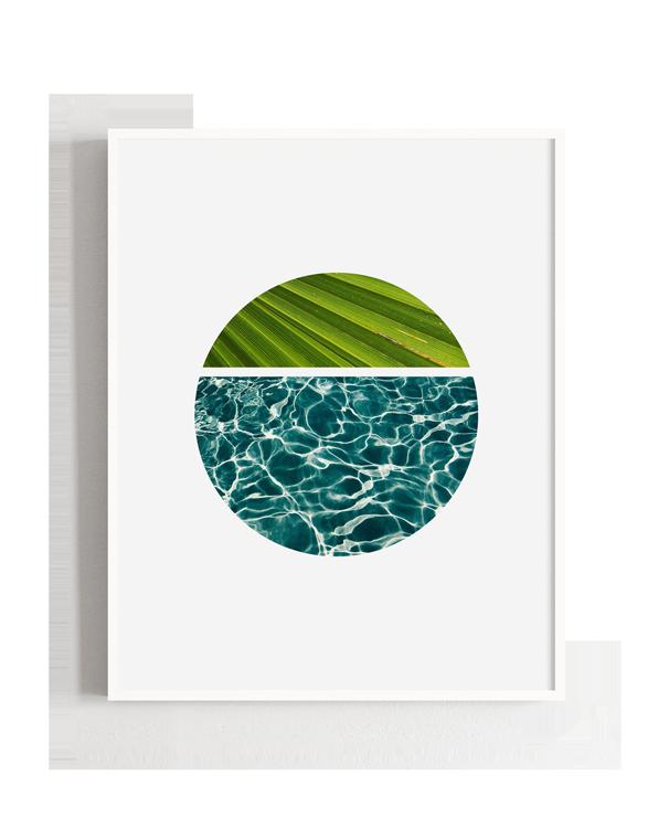 Ilustración abstracta de mar y tierra