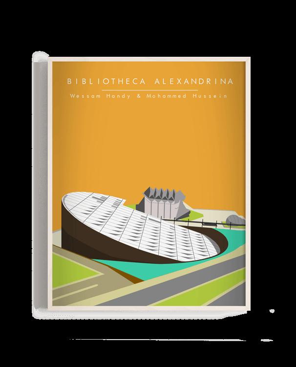 Ilustración vectorial de la Bibliotheca Alexandrina