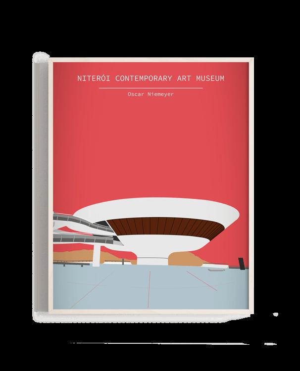 Ilustración vectorial del Niterói Contemporary Art Museum