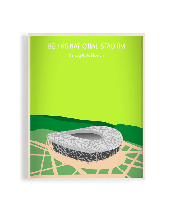 Ilustración vectorial del Beijing National Stadium