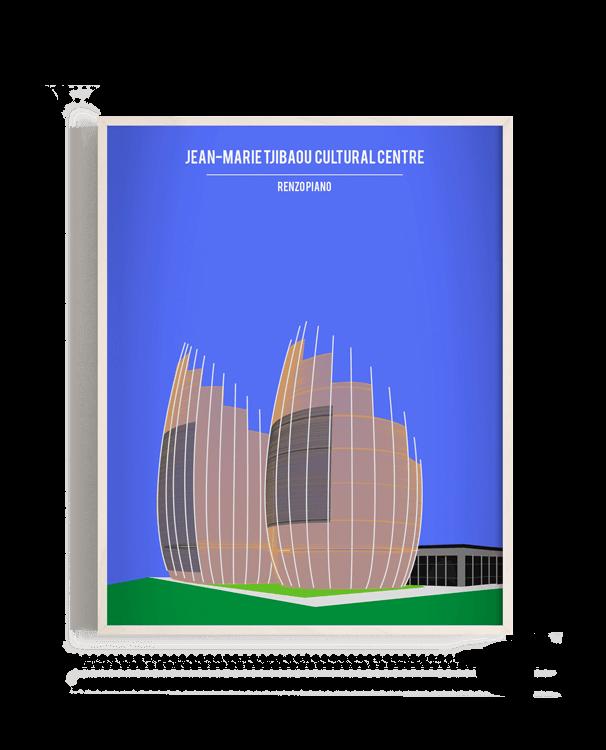Ilustración vectorial del Jean-Marie Tjibaou Culture Centre